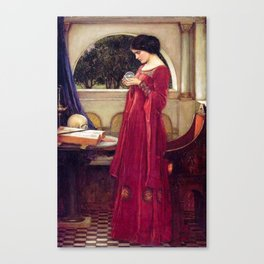 John William Waterhouse The Crystal Ball Canvas Print