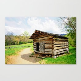 Historic Log Cabin Canvas Print