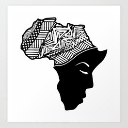 Prayer for Africa Art Print