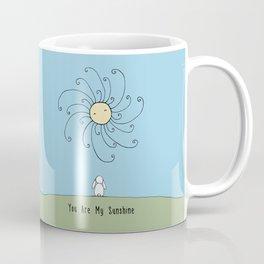 You are my sunshine - Blue Coffee Mug