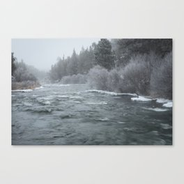 Winter On The Deschutes River Canvas Print