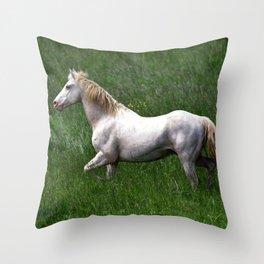 BEAUTIFUL WHITE HORSE Throw Pillow