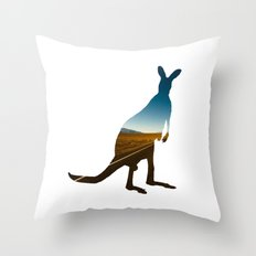kangaroooo Throw Pillow