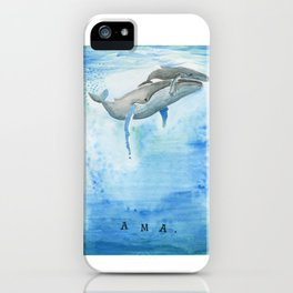 Ama - Whale mom and calf song iPhone Case