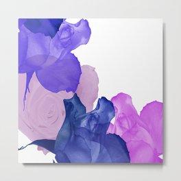 Vibrant Floating Rose Petals Metal Print