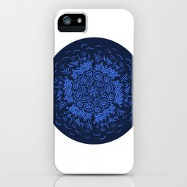 Zendala Blue and Lilac iPhone Case
