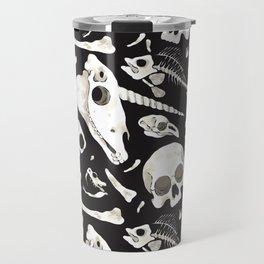 black Skulls and Bones - Wunderkammer Travel Mug