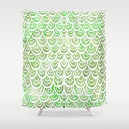 Watercolor Mermaid Peridot Shower Curtain