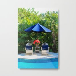 Warm Winter Welcome Metal Print