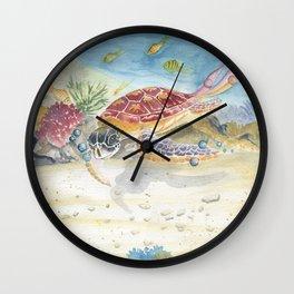 Colorful Sea Turtle 2 Wall Clock