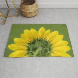 Sunflower Sunrise - Botanical Art by Debi Dalio Rug