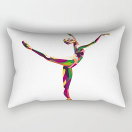 colorful ballerina Rectangular Pillow