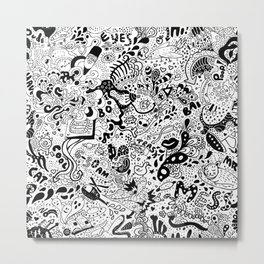 cute graphite Metal Print