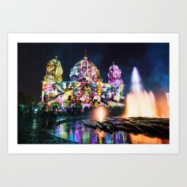 Berlin Cathedral of Lights Art Print