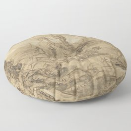 Sketch for a Tapestry circa 1660 Floor Pillow