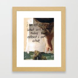 alive today Framed Art Print