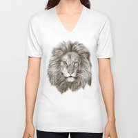 leo V-neck T-shirts featuring Leo by Eric Fan