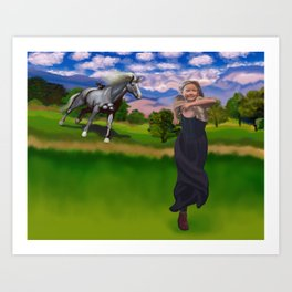 Princess Bitey vs. The Big Sis Art Print