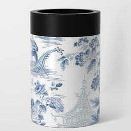 Powder Blue Chinoiserie Toile Can Cooler