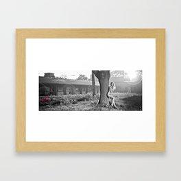 In ruins Framed Art Print