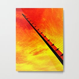 Sundial Harp (Orange) Metal Print