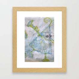 trumpet player Framed Art Print