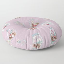 Christmas Pattern Pink Floor Pillow