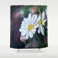 daisies Shower Curtains featuring Daisies  by ANoelleJay