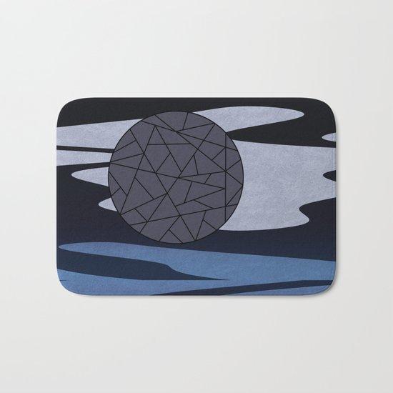 DARK MOON (abstract geometric) Bath Mat