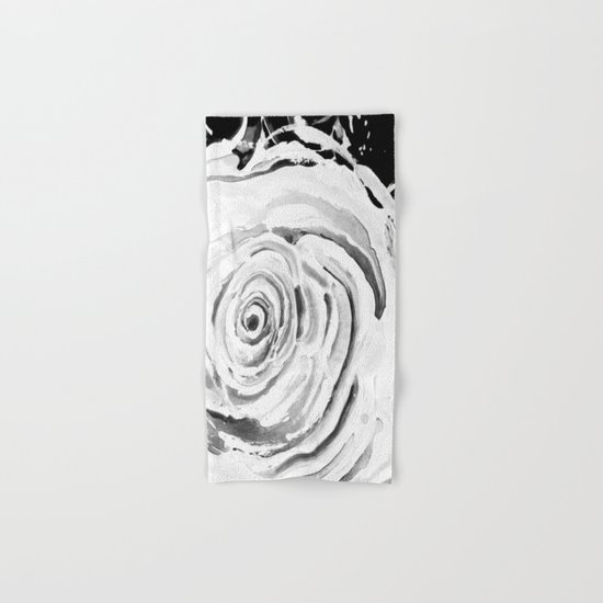 Roses For A Romantic Heart, Black and White Hand & Bath Towel