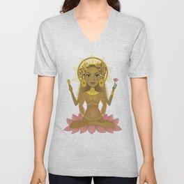 Golden Goddess Mother Unisex V-Neck