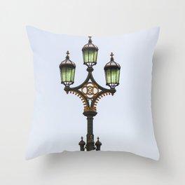 Westminster Bridge Lantern Throw Pillow