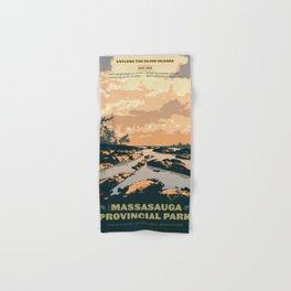 The Massasauga Park Poster Hand & Bath Towel