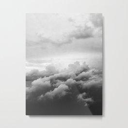 Airplane clouds  Metal Print