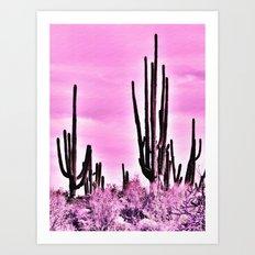 Wild Cactus Art Print