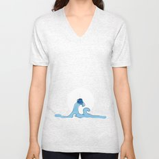 coffee wave Unisex V-Neck
