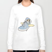sneaker Long Sleeve T-shirts featuring Sneaker ridin' by catamariii