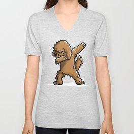 Funny Goldendoodle Dabbing Unisex V-Neck