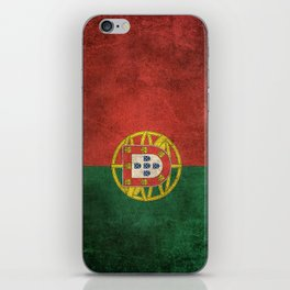 Old and Worn Distressed Vintage Flag of Portugal iPhone Skin