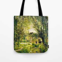 Landscape With A Sunlit Stream - Digital Remastered Edition Tote Bag