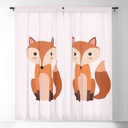 Fox art print Blackout Curtain