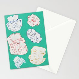 Tumbling Olmecs Stationery Cards