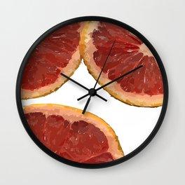 Grapefruit Slices  Wall Clock