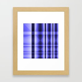 Shades of Blue Abstract Lines and Arrows and Diamonds Framed Art Print
