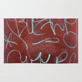 Urban Graffiti Rust Grunge Patina Rug