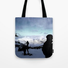 Up here with wonderful views Tote Bag