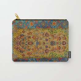 Hereke Vintage Persian Silk Rug Print Carry-All Pouch