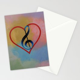 Music Note Stationery Cards