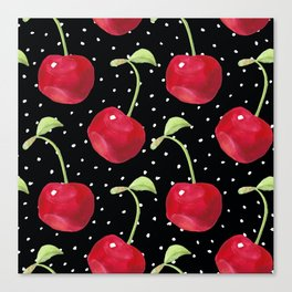 Cherry pattern III Canvas Print