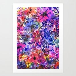 Colorful Poppy Garden Art Print